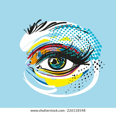 Vector Eye - stock vector