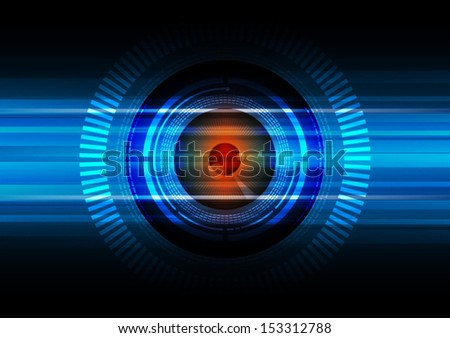 vector eyeball technology, security background - stock vector