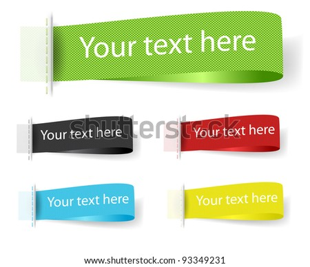 Vector Fabric Tag Label. - stock vector