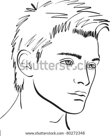 vector face man. design element - stock vector
