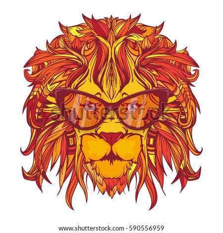 Yellow lion logo - photo#29