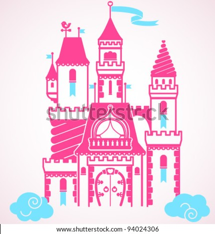 Vector fairy tale castle
