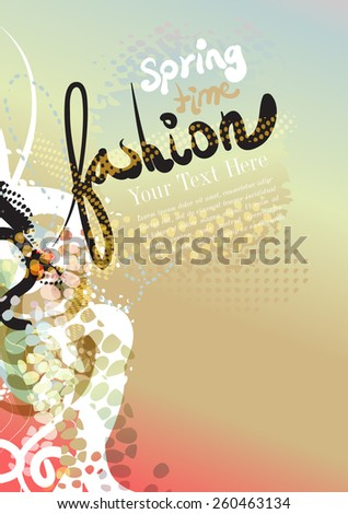 vector fashion background for text - stock vector