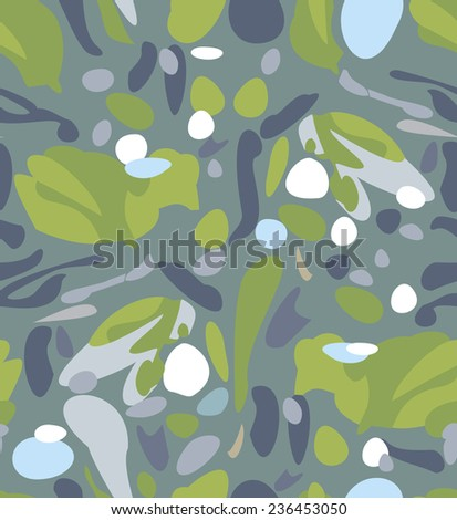 Vector. Fashion Camouflage Seamless Background Pattern. - stock vector