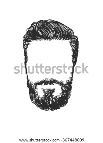 vector fashion illustration hand graphics mens stock