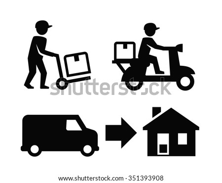 vector Fast delivery icon on white background - stock vector