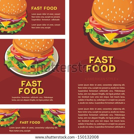 Vector Fast food illustration