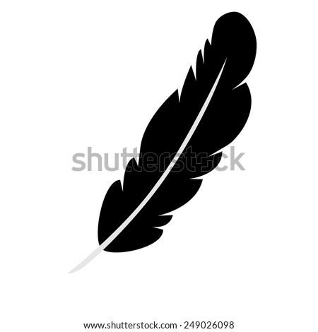 Vector feather icon - stock vector