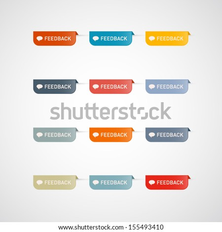Vector Feedback Icons Isolated on White Background  - stock vector
