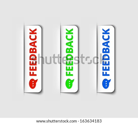 Vector feedback labels or tags for the web page