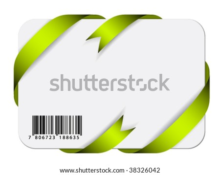 Vector festive card with barcode - stock vector