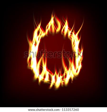 Vector Fiery Ring - stock vector
