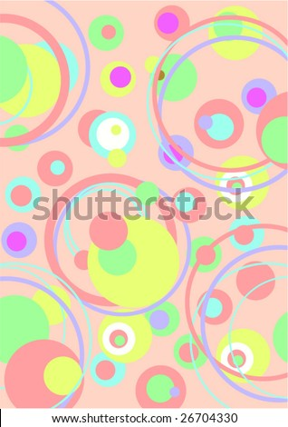Vector figure of a background from color circles - stock vector