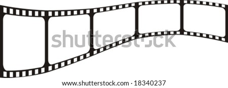 vector file, film shape very easy to edit - stock vector