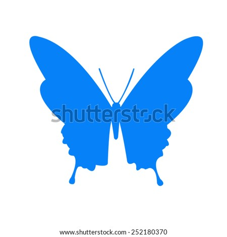 vector file of butterfly icon - stock vector