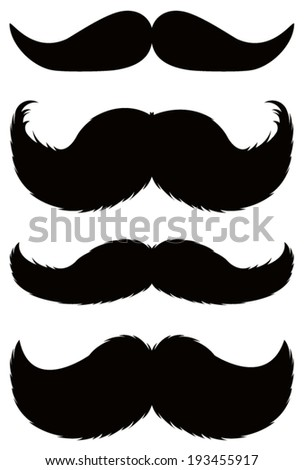 vector file of mustaches