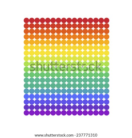 vector file of rainbow design - stock vector