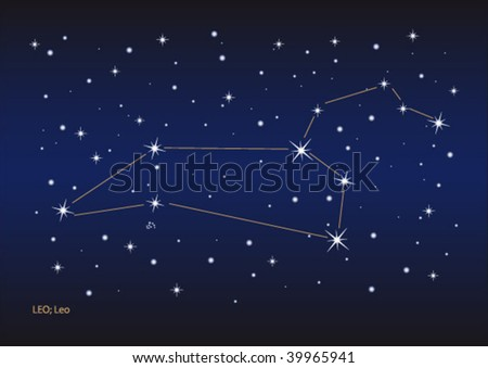 Vector file of the leo stars constellation. Size and color can be changed.
