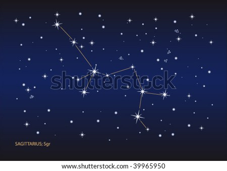 Vector file of the sagittarius stars constellation. Size and color can be changed.