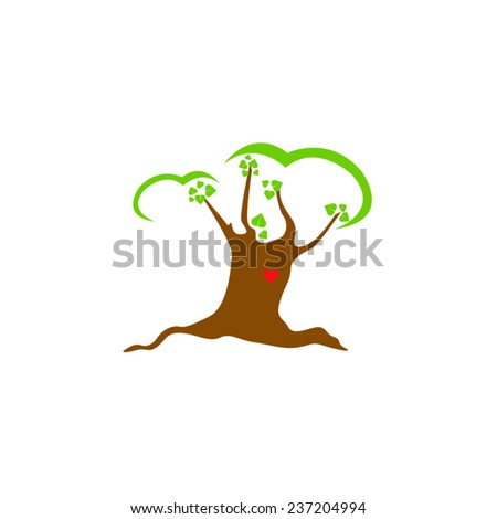 vector file of tree icon - stock vector
