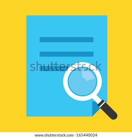Vector File Search Icon - stock vector