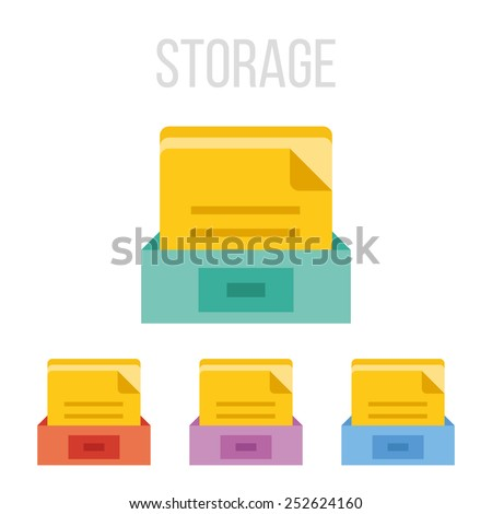 Vector file storage icons. - stock vector