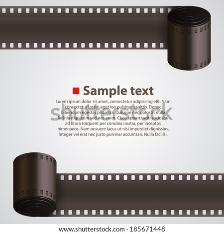 Vector. Film Strip background - stock vector
