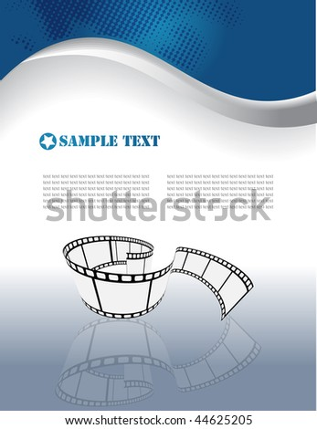 Vector film strip background - stock vector