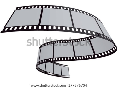 vector film strip 3D - stock vector