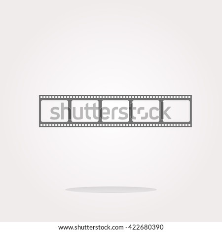 vector film strip, film strip Icon - stock vector