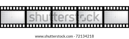 vector film strip with space for your text or image - stock vector