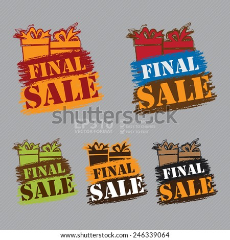 Vector : Final Sale Banner, Sticker, Icon or Label Isolated on White Background  - stock vector