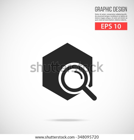 Vector find solution, investigation icon. Modern flat design vector illustration, quality concept for web banner, web and mobile applications, infographics. Vector icon isolated on gradient background - stock vector
