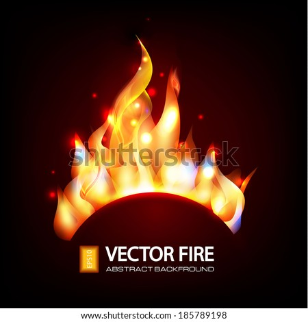 vector fire abstract background - stock vector