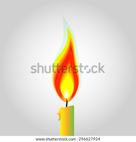 Vector fire lighting design by illustration