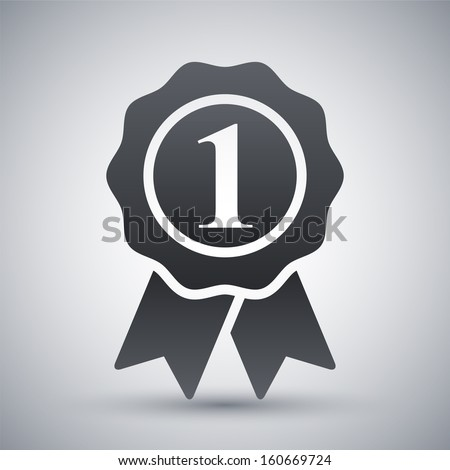 Vector first place icon - stock vector