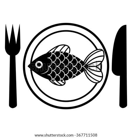 Goldfish isolated on white background illustration stock for Comedor vector