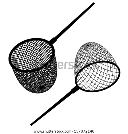 vector fishing net black icon  - stock vector