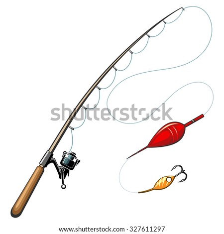 Fishing pole stock images royalty free images vectors for How to get free fishing gear