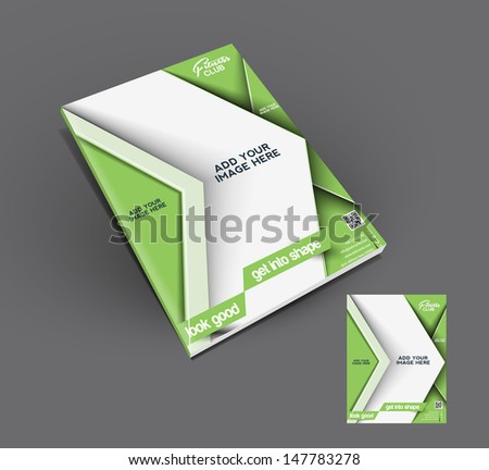 Vector Fitness Club Flyer, Magazine Cover & Poster Template  - stock vector
