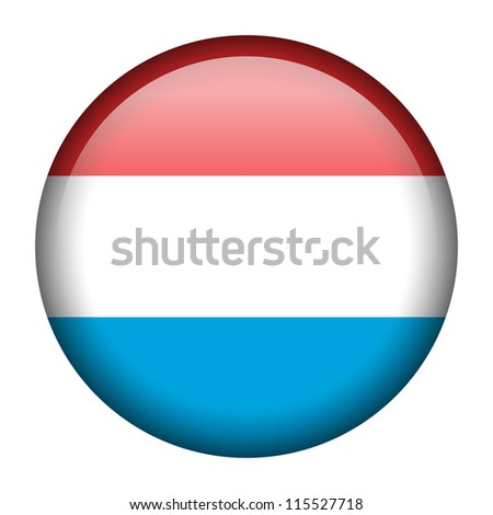 Vector flag button series - Luxembourg - stock vector