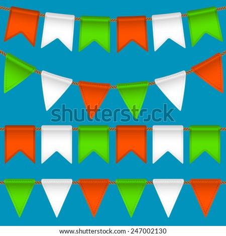 vector flag garland - stock vector