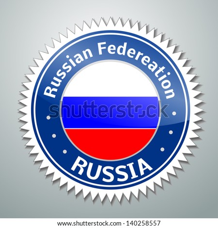 Vector flag label series - Russian Federation (Russia)