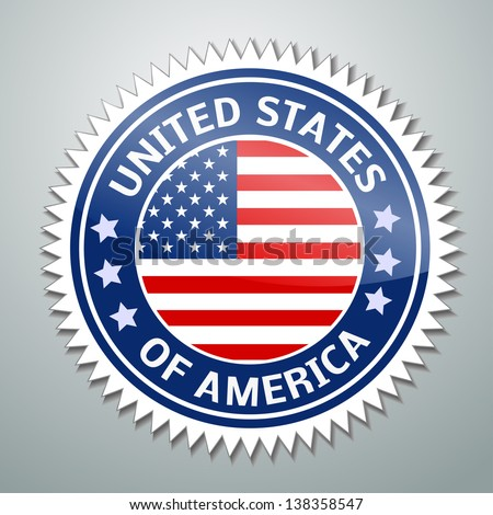 Vector flag label series - United States of America (USA)