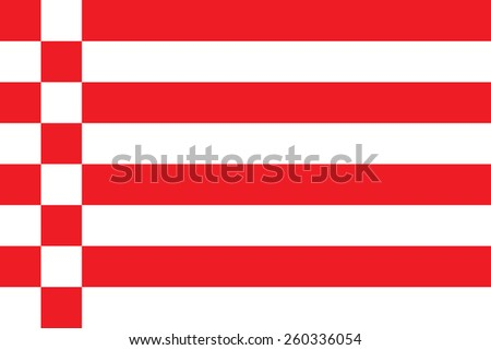 Vector flag of Bremen state, city in Germany, Original and simple flag isolated vector in official colors and Proportion Correctly, vector illustration isolated.
