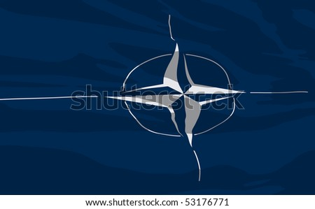 Vector flag of Nato