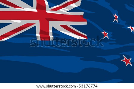 Vector flag of New Zealand