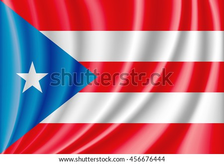 vector flag of puerto rico