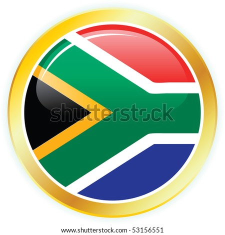 vector flag of south africa - stock vector
