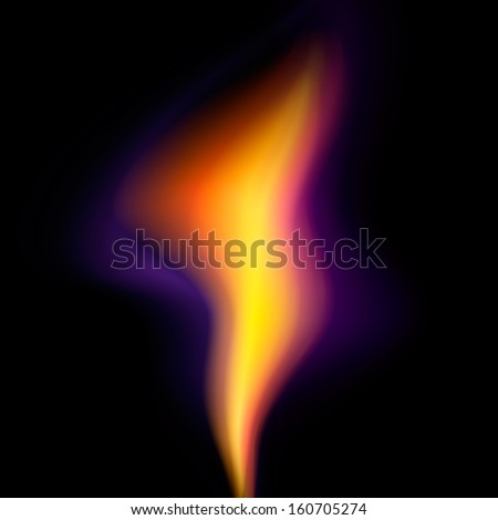 Vector flame on black background EPS 10 - stock vector